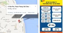 Bản đồ và sơ đồ tổ chức của chi nhánh Đà Nẵng