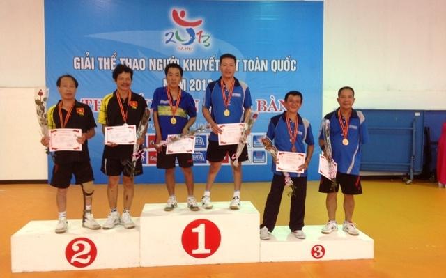 Đội tuyển bóng bàn  thành phố Hồ Chí Minh đã giành cả huy chương vàng và huy chương bạc nội dung đôi nam
